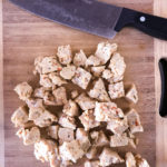 Chop tempeh and add to BBQ sauce